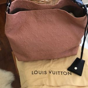Authentic Louis Vuitton leather hobo bag